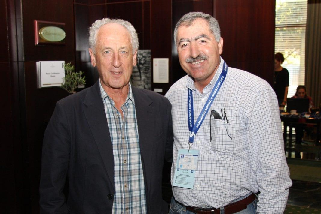 Στη φωτογραφία από αριστεράoΠρόεδρος της AIMS κύριος Paco Borao μαζί με τον Σταύρο Κακουρίδη Διευθυντή τουLogicomCyprusMarathon.